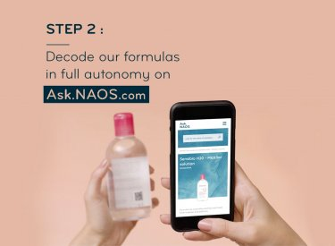 Ask.NAOS helps you read and decode our skin care labels
